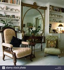 Victorian Armchair Edwardian Armchair And Small Green Victorian Chair On Either Side