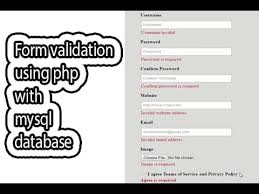 design form using php form validation using php with mysql database part one form
