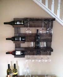 reclaimed wood wall wine rack home