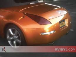 orange nissan 350z rtint nissan 350z 2003 2008 tail light tint film