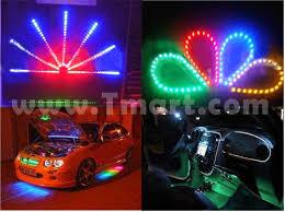 9 led pvc motorcycle car boat lights blue light