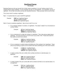 scientific notation u0026 sig figs worksheet