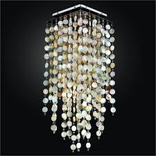 shell ceiling light square ceiling light with oyster shell and cityscape