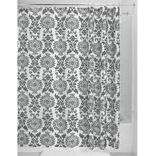 Black And White Damask Curtain Shower Curtains