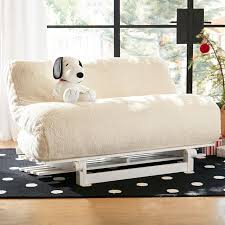 Dorm Lounge Chair Sherpa Faux Fur Fleece Futon Pbteen