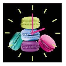 pendules de cuisine horloge cuisine macarons