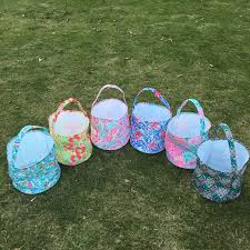 wholesale easter buckets crowne easter coral print easter tote wholesale lilly