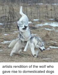Wolf Memes - artists rendition of the wolf who gave rise to domesticated dogs