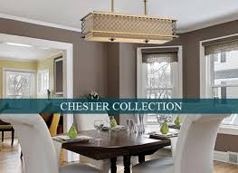 linear strand crystal chandelier contemporary dining room