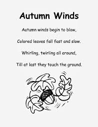fall poem for kindergarten fall poems poem and pre school