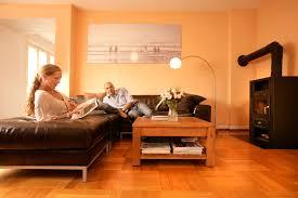 wohndesign schönes moderne dekoration küche orange streichen