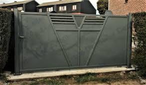 portails de jardin ferronerie moderne belgique