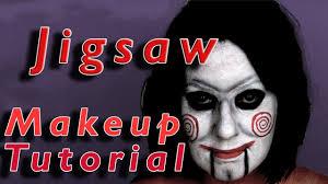 Jigsaw Halloween Makeup Jogos Mortais Maquiagem Jigsaw Halloween 2016 Youtube