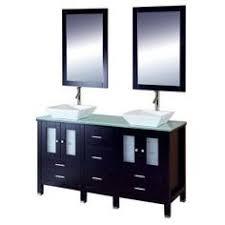 60 Bathroom Vanity Double Sink by Design Element 60 Inch Cosmo Black Granite Double Sink Bathroom
