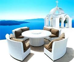 white round outdoor patio table white wicker patio table coastal collection round outdoor wicker
