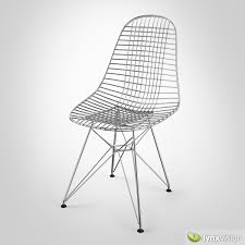 wire chair dkr 3d cgtrader