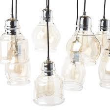 Mariana Lighting Fixtures Mariana 8 Light Cognac Glass Cluster Pendant In Antique Black