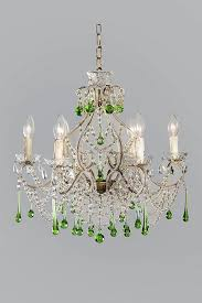 Colored Chandelier Italian 1930s Chandelier With Green Colored Drops