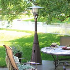 az patio heater hiland mocha wicker propane patio heater hayneedle