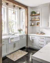 modern farmhouse kitchen with white cabinets 25 cozy farmhouse kitchen decor ideas shelterness