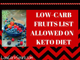 low carb fruits list allowed on keto diet