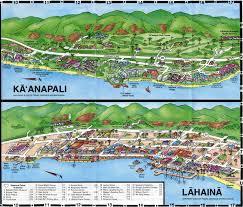 Fdny Division Map Kaanapali U0026 Lahaina Maui Caricature Cartoon Maps Pinterest