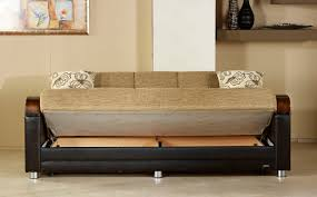 King Koil Sofa by Luna Fulya Brown Convertible Sofa Bed By Sunset