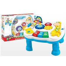 sit to stand activity table musical baby development desk game table growing baby pop n