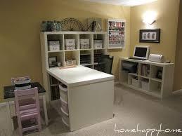 Ikea Art Desk Expedit From Ikea 4x4 Shelf Unit With Attached Desk U0026 2x2 Shelf