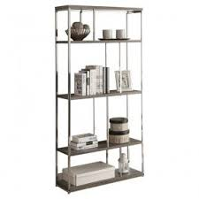 chrome bookcases foter