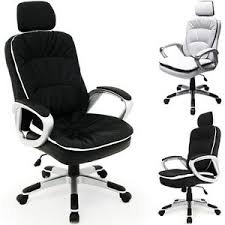 desk chair with headrest office chair headrest desk computer leather luxury white black