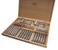 couteaux steak laguiole laguiole coffret 6 couteaux inox 98 13650 comparer les prix