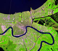 Map Of New Orleans Usa by Hurricane Katrina New Orleans Louisiana Usa Earthshots