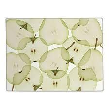 protege plan de travail cuisine planche à découper motif pommes verre protège plan de travail
