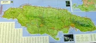 jamaica physical map map of kingston jamaica detailed and road maps for the capital