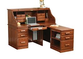 Dresser With Pull Out Desk Traditional Computer Roll Top Desk