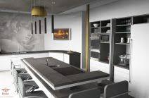 moderne kche mit kochinsel nach hinten küchen mit kochinsel und theke kuche mit kochinsel und