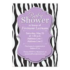 zebra baby shower purple zebra print zebra baby shower invitations