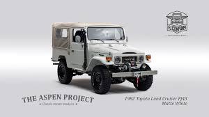 matte white jeep the aspen project 1982 toyota land cruiser fj43 matte white