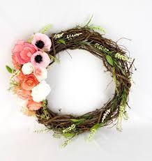 floral wreath paper flower wreath wreath decor rustic floral