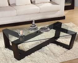 glass coffee table wooden legs modern glass and wood coffee table contemporary dark wood and glass