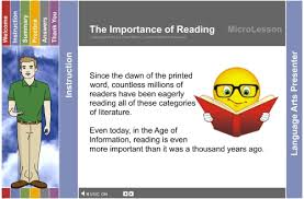 language arts a multimedia mini lesson for the importance of reading