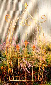 wrought iron carriage final flower trellis