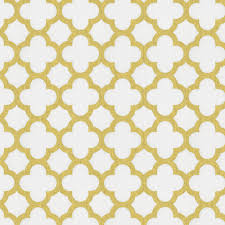 gold fabric white and gold metallic quatrefoil fabric by the yard carousel