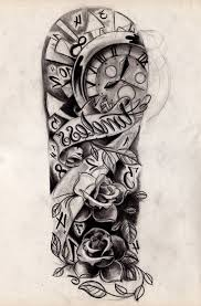 images for half sleeve black and white tattoos that