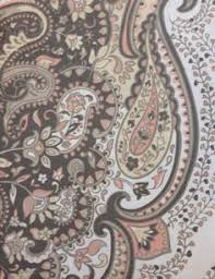tahari home fabric shower curtain roseman paisley scroll medallion