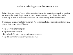 senior marketing executive cover letter