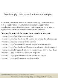 Sample Resume Objectives For Barista by Top8supplychainconsultantresumesamples 150513134751 Lva1 App6892 Thumbnail 4 Jpg Cb U003d1431524914