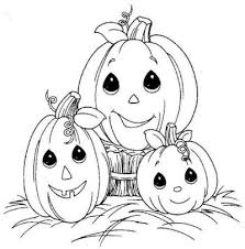 coloring pages pumpkin precious moments color