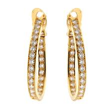 earrings gold cleef arpels diamond hoop gold earrings opulentjewelers
